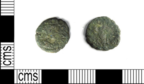 A resized image of Roman copper alloy nummus of the House of Valentinian