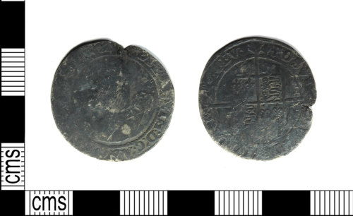 LEIC-C1C299: Post medieval silver sixpence of Elizabeth I