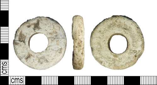 LEIC-C231FB: Early Medieval lead alloy spindle whorl