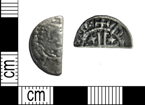 LEIC-D2314E: Medieval silver Scottish cut halfpenny of William I 'the Lion' of Scotland (1165-1214) or Alexander II of Scotland (1214-1259)