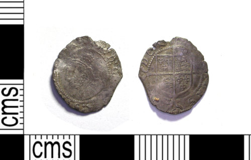 LEIC-D48796: Post- medieval silver penny of Elizabeth I