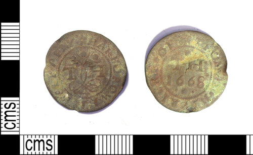 LEIC-D61244: Post medieval copper alloy token