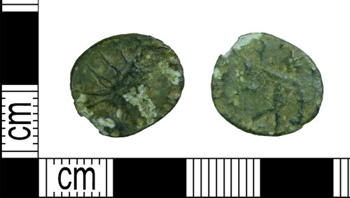LEIC-EF4628: Roman copper alloy barborous radiate coin