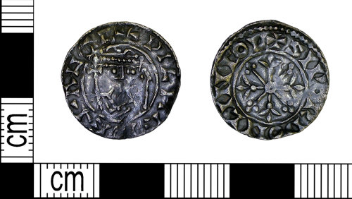 LEIC-F19F55: Medieval silver penny of William I