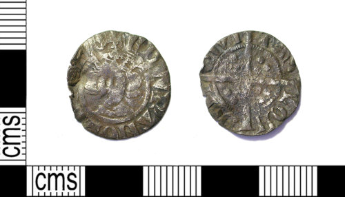 LEIC-F9EEF8: Medieval silver penny of Edward I