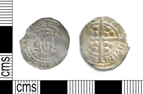 LEIC-FB4900: Medieval worn silver Edwardian penny of Edward III