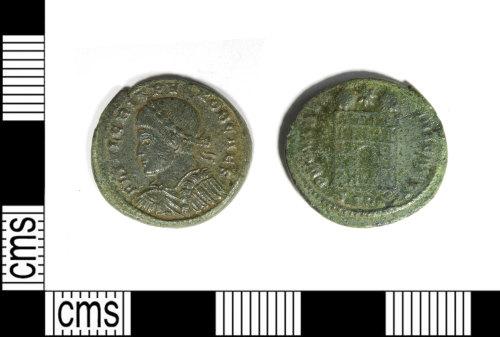 LEIC-FB8481: Roman copper alloy nummus of Crispus