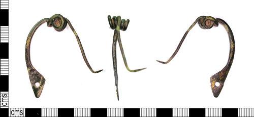 LEIC-FBA1D3: Iron Age / Roman copper alloy le Tene bow brooch