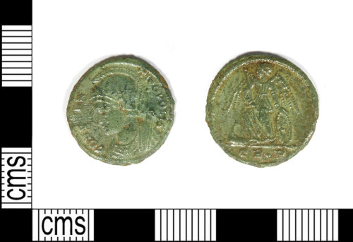 LEIC-FBC7BF: Roman copper alloy nummus of the House of Constantine