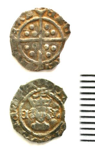 BUC-E5AAE6: Post-Medieval Coin : Halfpenny of Henry VIII