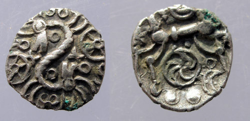 ASHM-BF42C2: Iron Age coin: minim of Atrebates or Regni