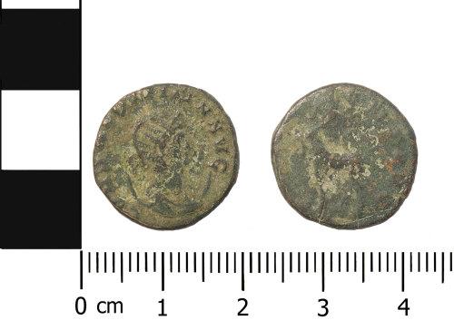 OXON-D611D7: Roman coin: radiate of Salonina