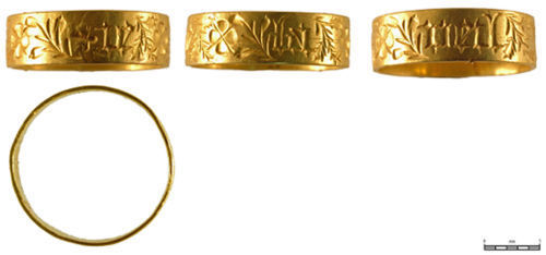 BM-14CF37: Medieval gold finger-ring