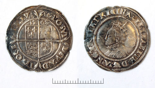 BM-527056: Post-Medieval silver Tudor coins