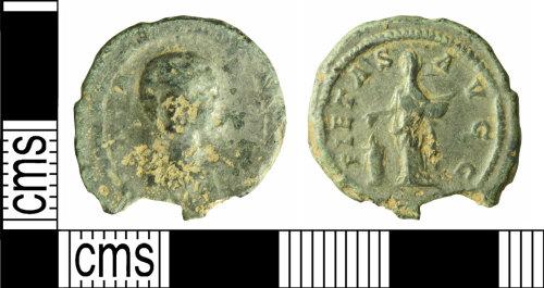 WILT-4479B6: Roman coin: radiate of Salonina
