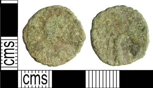 WILT-64B307: Roman coin: contemporary copy of a radiate of Claudius II