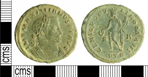 WILT-A9B8D6: Roman coin: nummus of Galerius