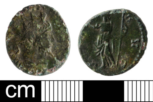 A resized image of Roman coin: radiate of Tetricus I