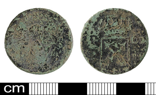 SOM-DC5CB0: Post medieval coin: Half Or of Frederick I of Sweden