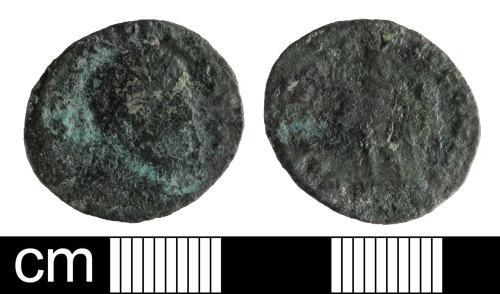 SOM-EB8A4E: Roman coin: nummus of Constantine I