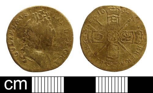 NMS-3DA37B: Post medieval half guinea of William III