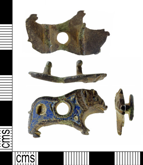 A resized image of Roman zoomorphic strap fitting