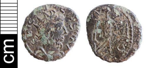 NMS-1946E5: Roman coin: contemporry copy of a radiate of Tetricus I
