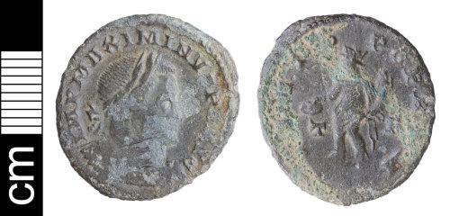 NMS-1C8097: Roman coin: nummus of Maximinus II Daia
