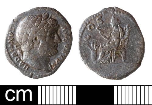 NMS-D9C2E1: Roman coin: denarius of Hadrian