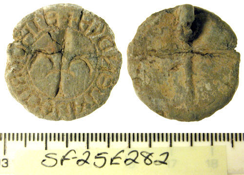 A resized image of Medieval seal matrix