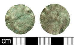 A resized image of Post-Medieval Nuremberg Rose/Orb jetton