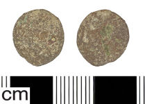 A resized image of Roman coin: Radiate or Nummus