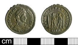 A resized image of Roman coin: miliarensis of Constantius II