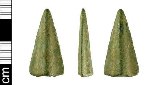 BH-13F8D7: Bronze Age spearhead (fragment)