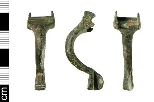 BH-9F9533: Early-Medieval supporting-arm brooch (incomplete)