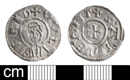 BH-24D8C4: Early-Medieval coin: penny of Wulfred, Archbishop of Canterbury