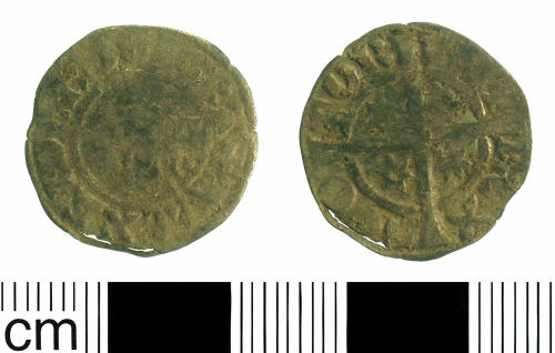 BH-B98683: Medieval coin: Penny of Alexander III of Scotland