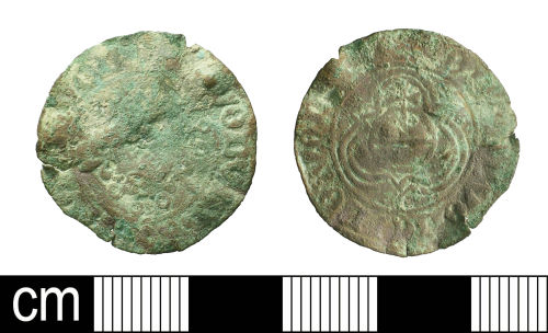 BH-E02EA3: Post-Medieval Nuremberg Rose/Orb jetton