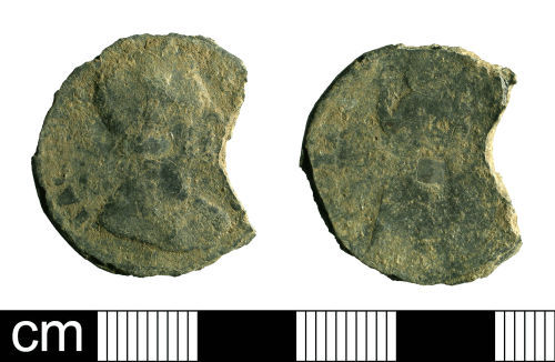 BH-B2F627: Post-Medieval coin: farthing of James II
