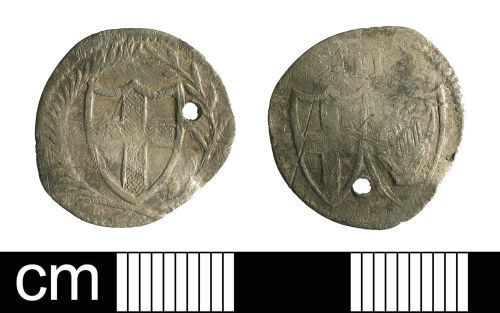 A resized image of Post-Medieval coin: halfgroat of the Commonwealth period