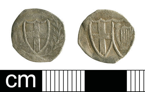 BH-475B55: Post-Medieval coin: penny of the Commonwealth period