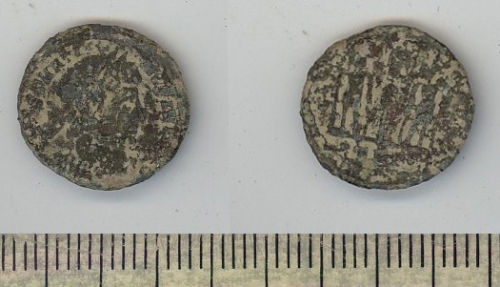 BH-F3AB14: Barbarous AE 3 or 4 of Constantine II as caesar