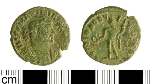 BH-54CBC4: Roman coin: Nummus (AE 1 or 2) of Maximian I