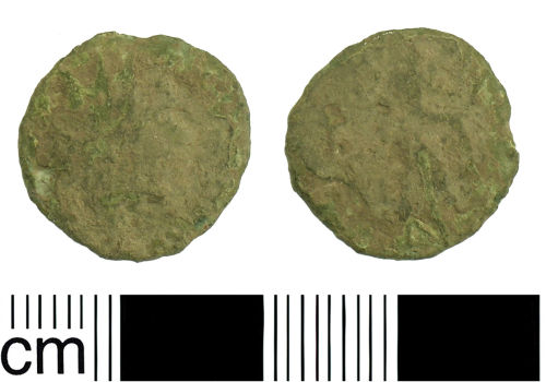 BH-A12F87: Roman coin: Late 3rd century (possibly Barbarous) Radiate