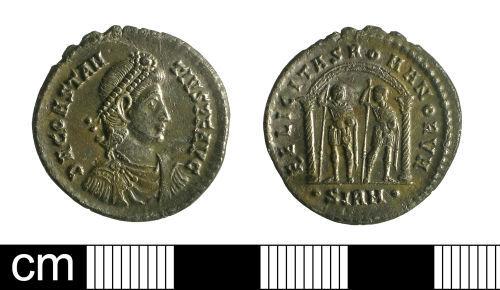 BH-45E723: Roman coin: miliarensis of Constantius II