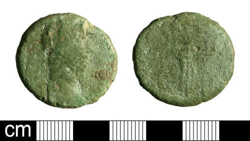 BH-716714: Roman coin: As of Commodus (possibly)