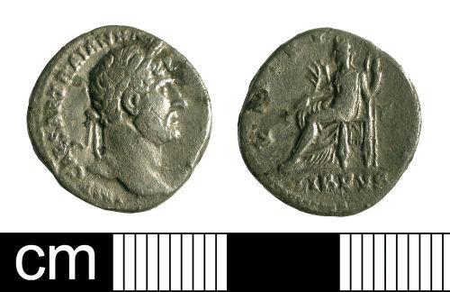 A resized image of Roman coin: denarius of Hadrian