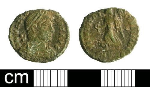 BH-6D8982: Roman coin: nummus of Valens