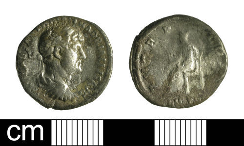 A resized image of Roman coin: denarius of Hadrian