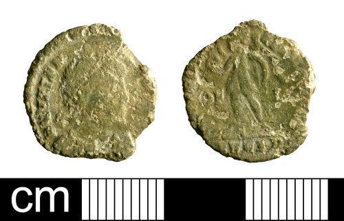 BH-009A67: Roman coin: nummus of Valens